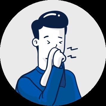 Cubra o rosto ao tossir ou espirrar
